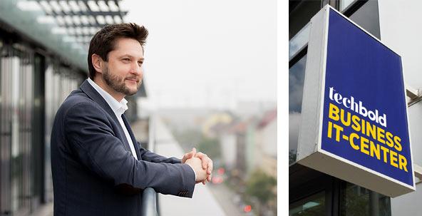 Damian Izdebski im Business IT-Center