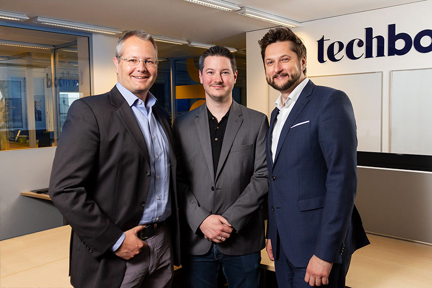 techbold übernimmt Bitquadrat: Gerald Reitmayr, Martin Geldner, Damian Izdebski